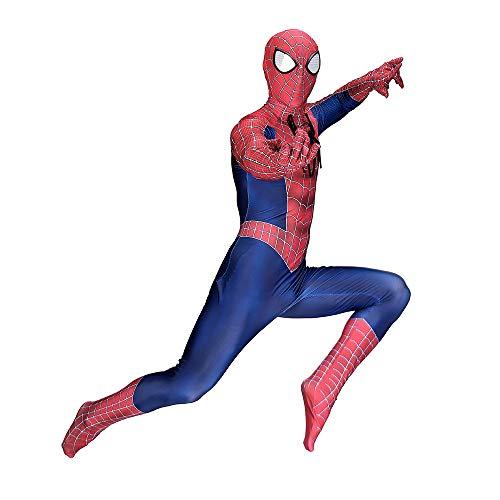 Erwachsene Klassische Spiderman Kostüm Halloween Cosplay Dress Party Outfit 3D Druck Spandex Body,Adult-L