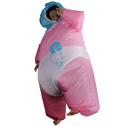 Gazechimp Aufblasbar Blowup Baby Riesenbaby Anzug Kostüm Ganzanzug Suit (Halloween Fett Kostüme Baby)
