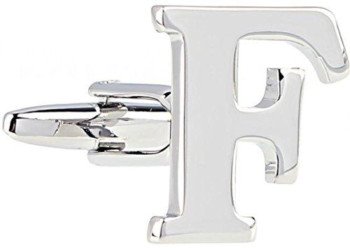 AMDXD Bijoux en acier inoxydable plaqué cuivre Boutons de manchette Chemise pour homme anglais lettres F Argent Boutons de manchette Collections