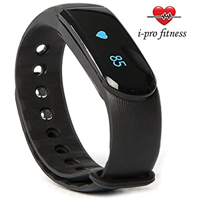 i-Pro ID101 Fitness Tracker – Seamless Pairing With VeryFit 2.0 App – Bluetooth Exercise Tracker, Heart Rate Monitor Watch, Sleep Tracker, Calorie Counter And Pedometer Wristband With Free E-Book from i - pro fitness