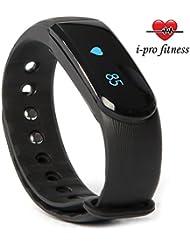 i-PRO Id101tracker de fitness–L'Association transparente avec Veryfit 2.0App–Bluetooth d'exercice tracker, moniteur de fréquence cardiaque montre, sommeil, compteur de calories et podomètre Bracelet avec gratuit e-book