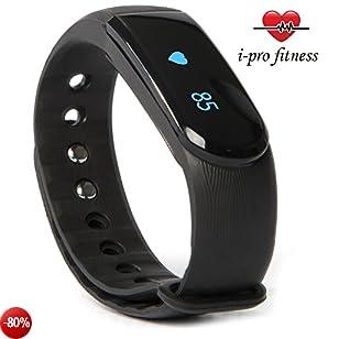 i-pro fitness, ID101, indicatore della forma fisica,identificazione senza interruzioni con l'applicazione Veryfit 2.0.Cinturino con segnalatore Bluetooth di esercizi, cardiofrequenzimetro, monitoraggio del sonno, contatore di calorie e pedometro