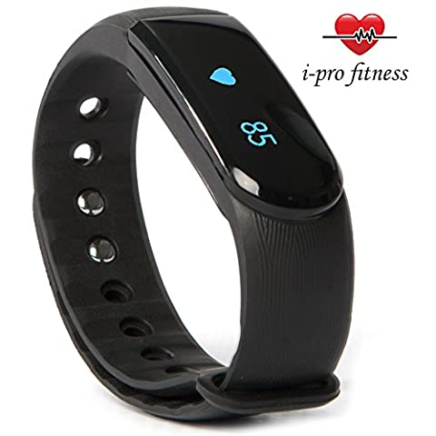 i-Pro ID101 Fitness Tracker – Seamless Pairing With VeryFit 2.0 App – Bluetooth Exercise Tracker, Heart Rate Monitor Watch, Sleep Tracker, Calorie Counter And Pedometer Wristband With Free
