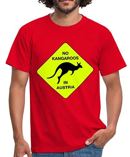 Spreadshirt No Kangaroos in Austria Kein Kängaru in Österreich Männer T-Shirt, XXL, Rot