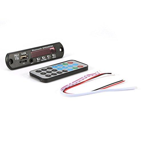 DC 12V Bluetooth Decoder Board Digital FLAC + WAV + WMA + MP3 Lossless Audio Player Audio Modul USB Soundkarte 3.5mm AUX TF FM Radio mit Fernbedienung(TF Micro Karte)