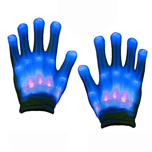 Party Geschenke Kindergeburtstag, SoKy LED Handschuh Kinder Blinkende Bunte Finger Gloves Handschuhe Junge Spielzeug3-12 Jahre Geschenke für Mädchen Ab 3-12 Jahre