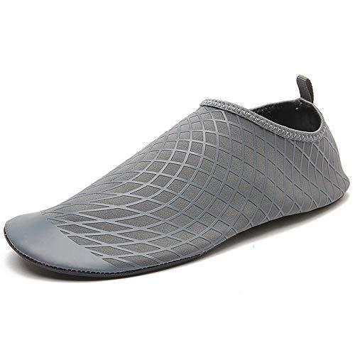 Wasser Schuhe Mens Womens Quick Dry Sport Aqua Schuhe Unisex Schwimmen Schuhe Für Schwimmen, Walking, Yoga, See, Strand, Garten, Park, Fahren, Bootfahren,Gray,41