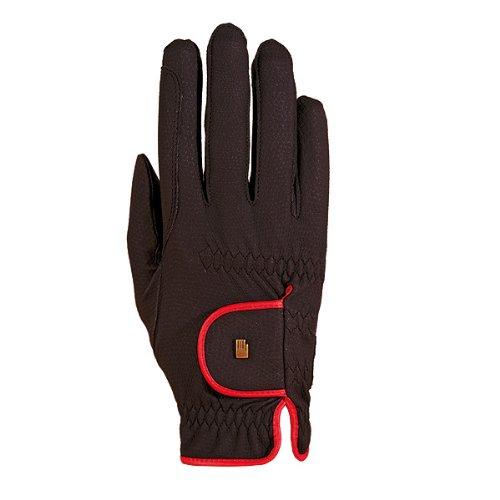 Roeckl Sports Damen Handschuh Lona, Damenreithandschuh, Schwarz/Rot, 8,5