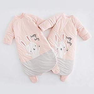 Dtcat Saco de Dormir para bebé de Invierno,Saco de Dormir para bebé,Pijama de una Pieza para bebé de otoño e Invierno…