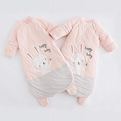 Dtcat Saco de Dormir Anti Patada para niños,Saco de Dormir para bebé,Pijama de una Pieza para bebé de otoño e Invierno,Manta portátil para niños niñas