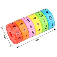 OOCOME Magnetic Arithmetic Learning Toys Math Games Math Resources Children Number Games Number Blocks Magnet Toys for Kids Children Gifts