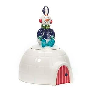 Département 56Bonhomme de neige et pingouin Igloo Boîte à biscuits # 92041