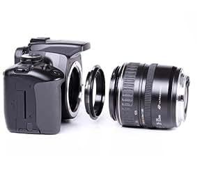 Phorex Bague d'adaptation macro 58 mm pour objectif à baïonnette Canon EOS EF comme les modèles 1000D 500D 450D 400D 350D 300D 50D 40D 30D 20D 10D 7D 5D 1D Mark II III