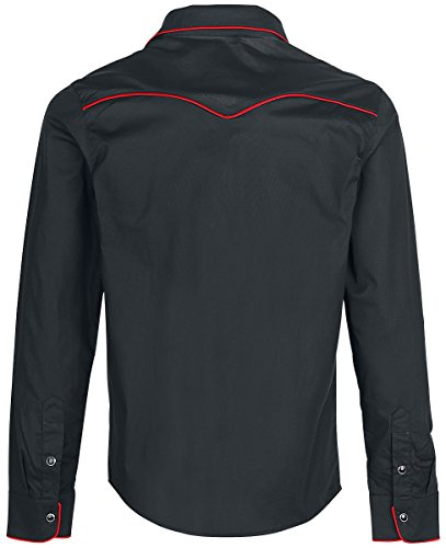 Banned Plain Trim Hemd schwarz/weiß Schwarz/Rot