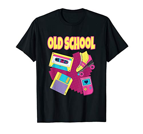 90er Jahre Party Outfit Retro Old School Kostüm  T-Shirt