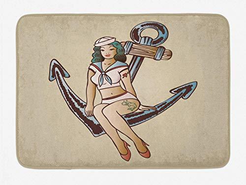 matte, Kinder Cartoon niedliche kleine Mädchen Fee Kleid mit Einer Krone kindisch Gekritzel, Plüsch Badezimmer Dekor Matte mit Rutschfester Rückseite, schwarz und weiß ()