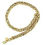Königs-Kette rund Gold Doublé 8 mm 60 cm Halskette Gold-Kette Herren-Kette Damen Geschenk Schmuck ab Fabrik Italien tendenze BZGYRds8-60v