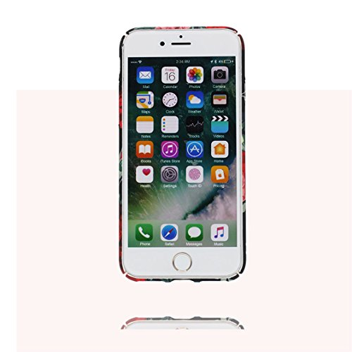 iPhone 7 Plus Custodia, morbida guarnizione TPU in gomma antigraffio protettiva Case iPhone 7 Plus copertura 5.5 Cover Sottile Peso leggero # Cartoon Fenicottero Pavone # Cartoon Rosa