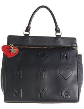 Tommy Hilfiger Handtasche Logo Story Satchel AW0AW03615 413 Navy