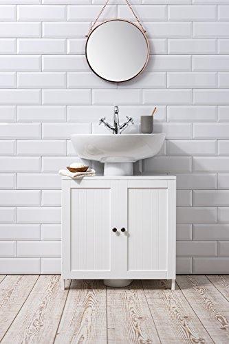 Stow Bathroom Sink Cabinet Undersink in White Noa & Nani 41PRxWqwpaL