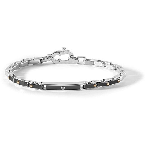 bracelet-in-steel-and-black-pvd-and-rose-with-zirconia-central-comete-ubr-756