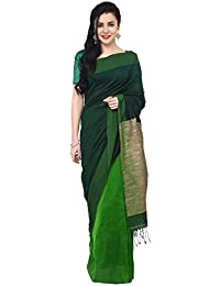The Weave Traveller Handloom Hand Woven Khadi Cotton Ghicha Pallu Saree With Attached Blouse