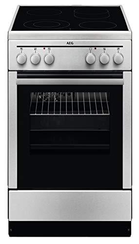 AEG 40095VD-MN 50 cm Standherd mit Glaskeramik-Kochfeld / Bräterzone / Mehrkreiskochzone / Grillfunktion / A -