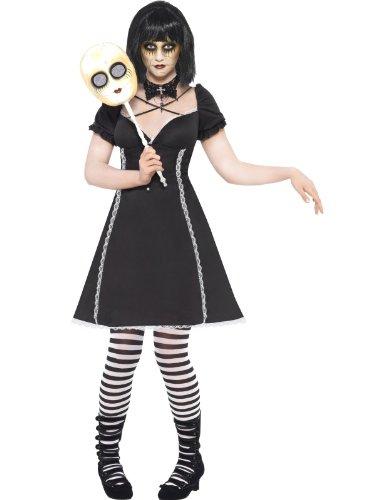 Smiffys Puppenkostüm Puppe Kostüm Horror für Damen Japan Halloween Damenkostüm Halloweenkostüm sündig Gr. 36/38 (S), 40/42 (M), Größe:M (Jugendliche Für Kostüme Haloween)