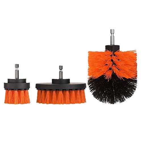 sche Bohrmaschine Bürste Grob Power Scrubber Reinigungsbürste Wannenreiniger Combo Tool Kit (Orange, 3pcs) ()