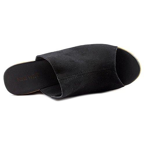 Nine West Lilahol1 Femmes Toile Sandales Compensés Black