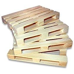 4pieza de madera Mini Dimensiones Posavasos Mini Juego de palé
