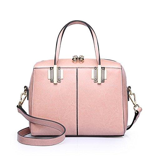 La Signora Modella La Borsa Del Messaggero Della Mano Selvaggia Pink