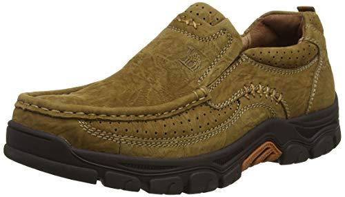 CAMEL CROWN Mokassins Leder Freizeitschuhe Herren Schuhe,Herren Slipper Leder Business Wanderschuhe männer Schuhe -