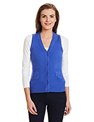 Puma Womens Cotton Sports Knitwear (56657205_Dazzling Blue_Small)