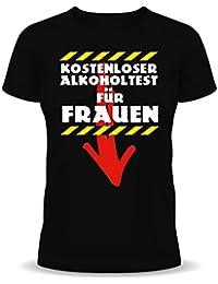 RAHMENLOS - T-shirt - Slogan - Manches Courtes - Femme Noir Noir