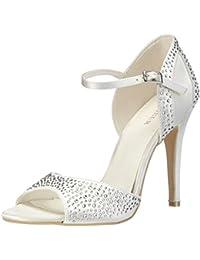 Menbur Wedding Cristal - sandalias con cierre al tobillo de raso mujer