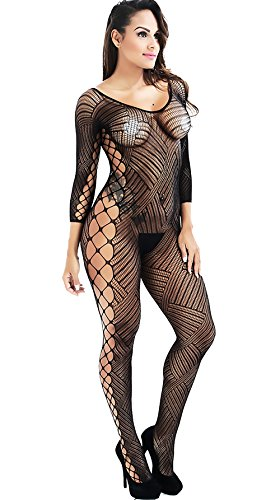 Xs and Os Women Fishnet Bodystocking Babydoll Lingerie