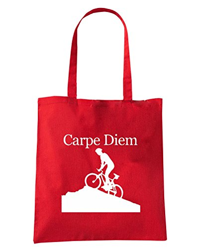 T-Shirtshock - Borsa Shopping OLDENG00741 carpe diem summit Rosso