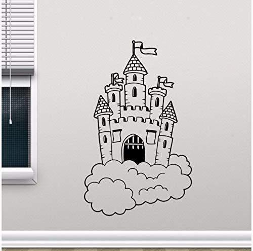 rg In Wolken Wandtattoo Kindergarten Wandbild Kinder Schlafzimmer Dekor Magic Kingdom Vinyl Aufkleber Kinderzimmer Dekor 57X92 Cm ()