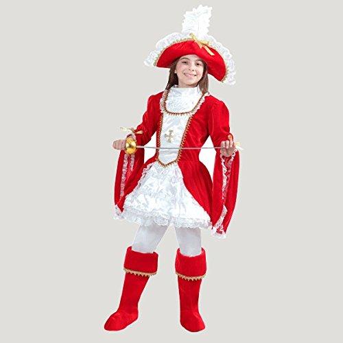 VESTITO COSTUME Maschera di CARNEVALE bambina - LADY MOSCHETTIERE - Taglia  8 9 anni - c36fdb064f9a