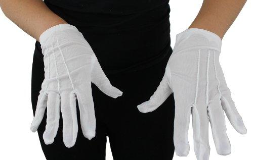 Imagen de childs blanco guantes fancy vestido con 3cosido en líneas por ilovefancydress disfraz ideal para niños de accesorios de magos de papá noel
