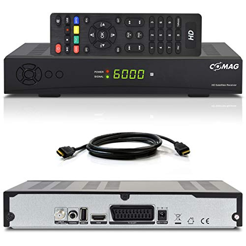 HD Satelliten Receiver Comag SL 40 HD V2 (PVR-Ready, DVB-S2, SCART, HDMI, USB 2.0) inkl. HDMI Kabel