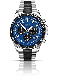Sekonda Men's Quartz Watch with Blue Dial Chronograph Display and Two Tone Stainless Steel Bracelet 1242.27