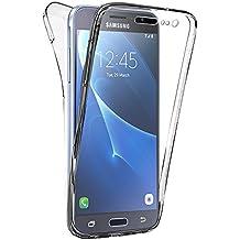Samsung Galaxy J3 Pro Housse HCN PHONE® Coque Silicone Gel ultra mince 360° protection intégrale Avant et Arrière pour Samsung Galaxy J3 Pro - TRANSPARENT