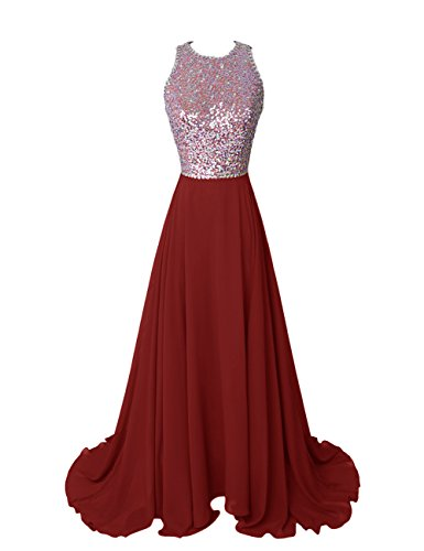 Dresstells Damen Homecoming Kleider Lange Abendkleider Burgundy