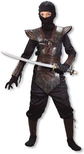 Ninja Fighter Kinderkostüm braun (Kostüm Kostüm Kind Avatar Aang)