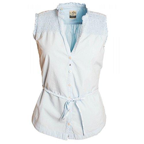 Gaastra Bluse Blau ringtale für Damen Gr. X-Large, blau