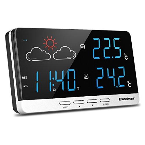 Excelvan Wireless Colore Stazione Meteo con le Previsioni, Temperatura, e Sensore Esterno