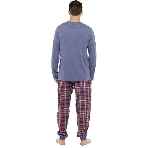Neu Herren Weich Pyjama Perfect Sommer Frühling Hausanzug Atmungsaktiv Hosen M- XXL - CRAZY AUSVERKAUF SOLANGE DER VORRAT REICHT TARTAN BLUE