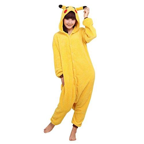 Moolee Animal style kigurumi Pyjama Adulte Anime pyjamas tenue Onesie Cospaly Fête Flannels costume(L, pikachu)